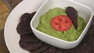 Guacamole Dip With Peas