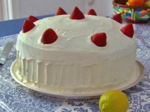 Strawberry Walnut Cream Cake