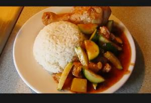 Latino Style Chicken with Potatoes and Zucchini