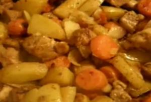 Pork and Vegetables with Wine Sauce