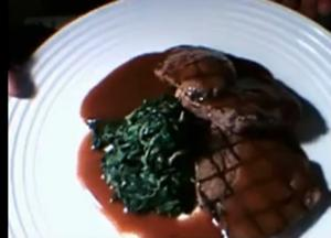 Beef And Spinach With Prime Steak Sauce