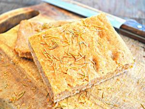 Crispy Spiced Focaccia with Aperol Spritz