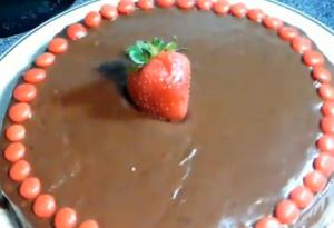 Baked Homemade Eggless Chocolate Cake
