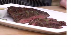 Sirloin Flap with Tangy Herb Sauce