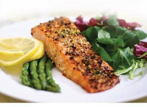 Dill-Marinated Salmon Steaks