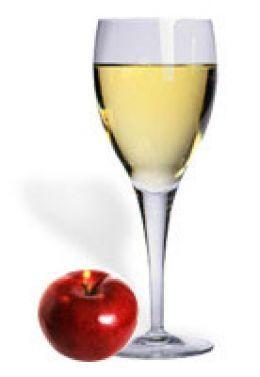 Apple wine from apple juice