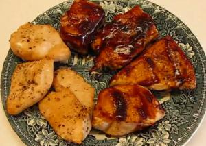 Juicy and Moist Oven Barbecued Chicken Breasts