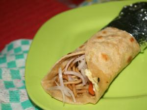 Egg and Noodles Wrap