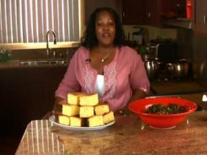 Holiday Series: Southern Mixed Greens with Smoked Turkey Wings and Sweet Cornbread