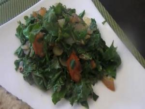 Russian Kale (Healthy Vegetarian Food): Spiced Russian Kale