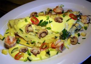 Basil And Mushroom Omelette