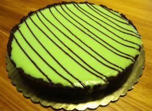 Grasshopper Liquor Cheesecake