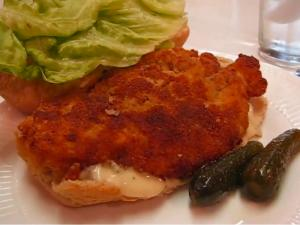 Fried chicken cutlet sandwich recipe