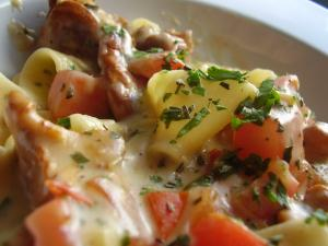 Pappardelle with Chantrelle Mushrooms Recipe