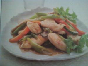 Pad Priew-Waan Gai - Sweet and Sour Chicken