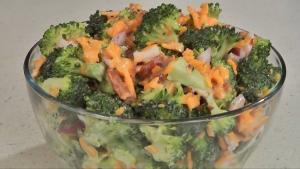 Fresh Broccoli Salad with Bacon