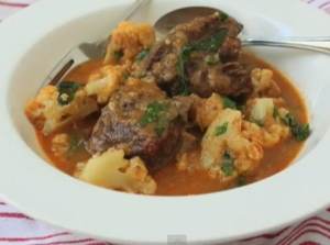 Curried Beef Short Ribs With Cauliflower Curry And Coconut Milk