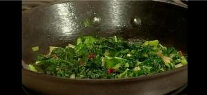 Sauteed Local Organic Greens