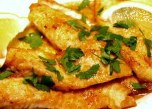Fillet Of Sole In Lemon Parsley Butter