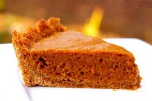 Pumpkin Chiffon Pie Flavored With Ginger