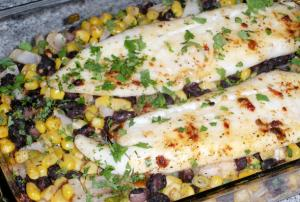 Fresh Corn and Tilapia