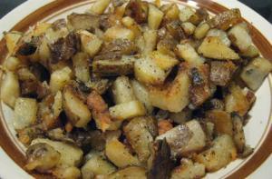 Home Fried Baked Potatoes with Simple Seasonings