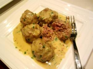 Meatballs in Potato Mushroom Sauce