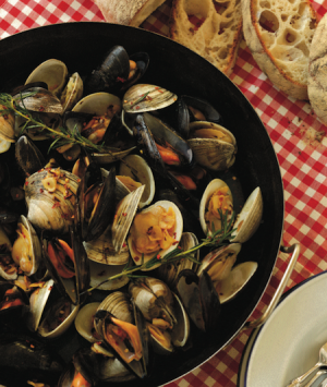 Fire-Roasted Clams and Mussels