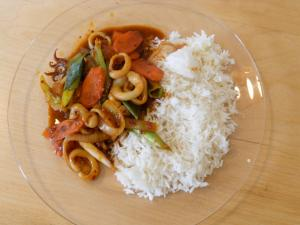Stir Fry Spicy Squid