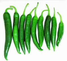 Less hot green chili