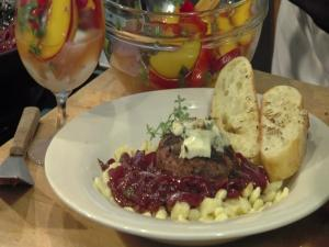 Gorgonzola Red Wine Lamb Burgers
