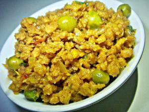 Vegetarian Keema With Peas