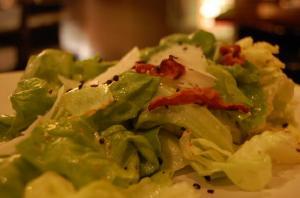 Garden Lettuce with Bacon Dressing