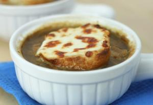 Onion Soup With French Bread