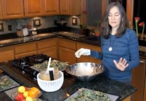 Spicy Vegan Kale Chips