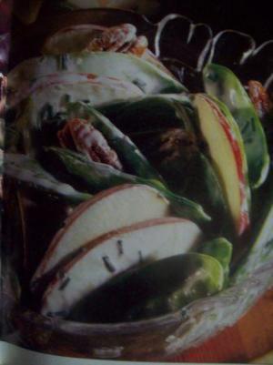 Snow Pea, Apple and Nut Fall Salad