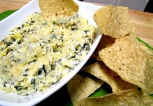Cheese Dip with Spinach and Artichoke