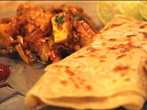 Tangy Tawa Paneer Wrap - Delicious Panner Wrap