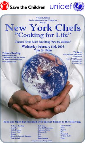 New York Chefs Cooking for Life Tsunami Benefit