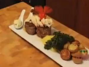 Surf and Turf with Roasted Vegetables