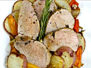 Pork Tenderloin and Roasted Red Potatoes Skillet Recipe