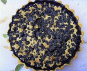 A delectable blueberry tart made using my grandmother's vintage baking recipe