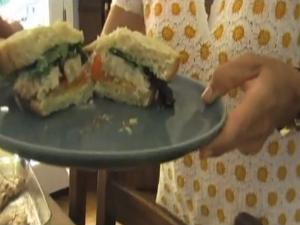 Tamra Davis Cooking Show - Grilled Fish Sandwich