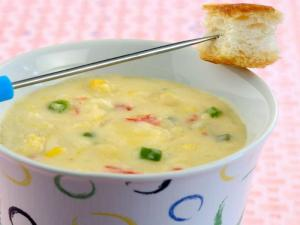 Corn and Jalapeno Fondue by Tarla Dalal