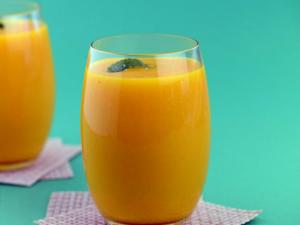 Mango and Pineapple Juice (Vitamin A and C Rich) by Tarla Dalal