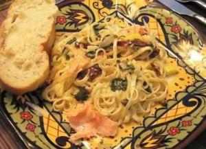 Linguini with Creamy Smoked Salmon Sauce