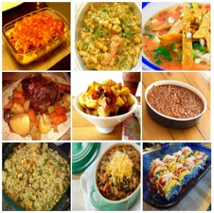 collage of 1 dish meal
