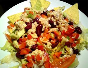 Southwestern Chicken Salad With Chipotle Caesar Dressing