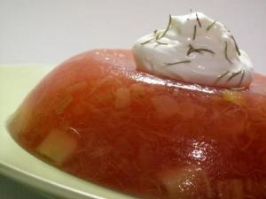 Crunchy Tomato Aspic