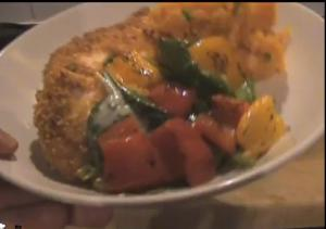 Crunchy Cornflake Chicken With Sweet Potato Mash And Red Pepper Salad